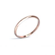 Alianza Rhea Oro rosa 2 mm x 1,2 mm