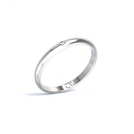 Alianza Rhea Platino 2,5mm x 1,3mm con 1 diamante