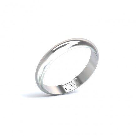 Alianza Rhea Oro blanco 3,5mm x 1,4 mm