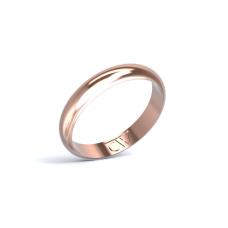 Alianza Rhea Oro rosa 3,5 mm x 1,4 mm