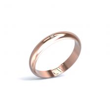 Alianza Rhea Oro rosa 3,5 mm x 1,4 mm con 1 diamante