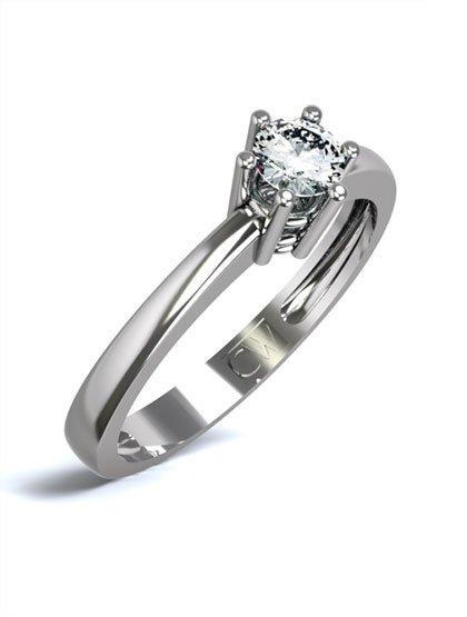 Solitario, anillo de compromiso